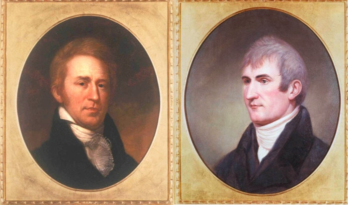 Captain Meriwether Lewis and Second Lieutenant William Clark