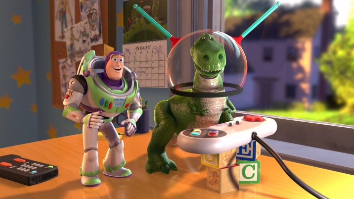 "Still from Pixar's ""Toy Story,"" the first fully animated CG feature film"