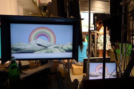 """Quite a lot of monitors and mirroring, but all very worthwhile on shoot day."""