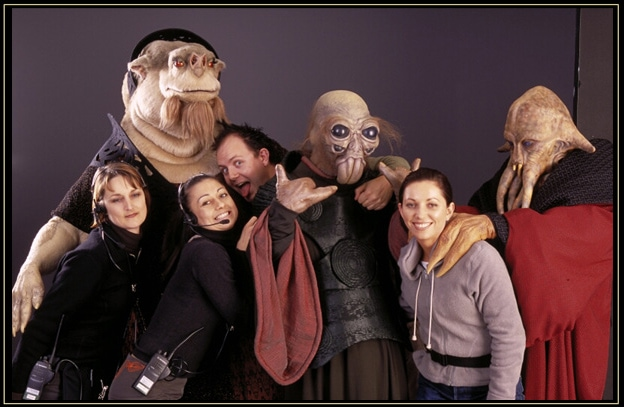 The Star Wars Creatures Team. (Fletcher is the one with his tongue out.)
