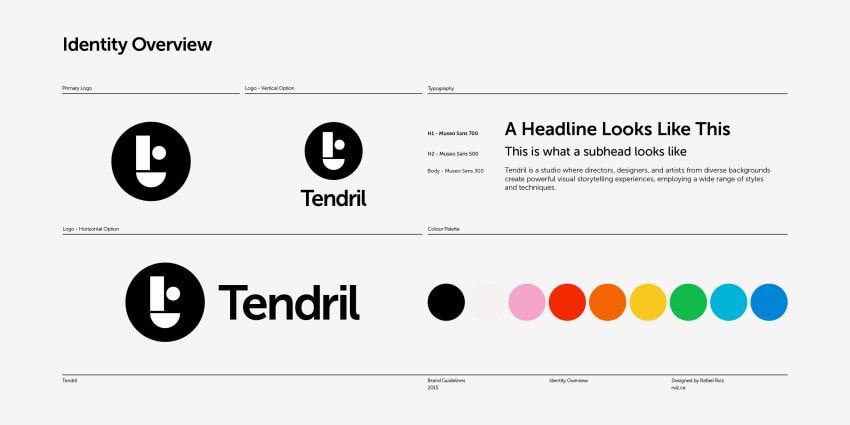 A collection of elements from the newly minted Tendril brand guidelines