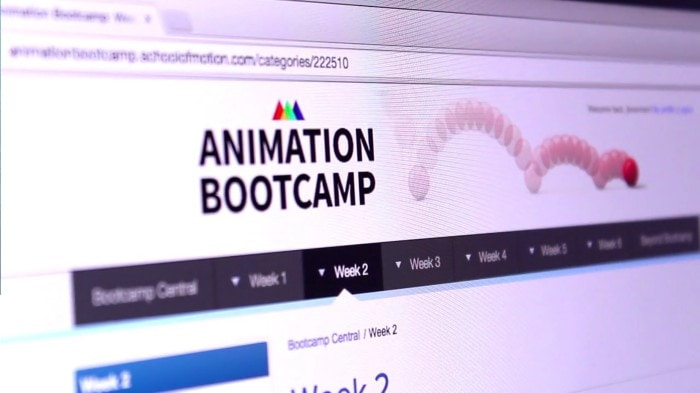 Animation Bootcamps is a 6-week intensive program created by School of Motion