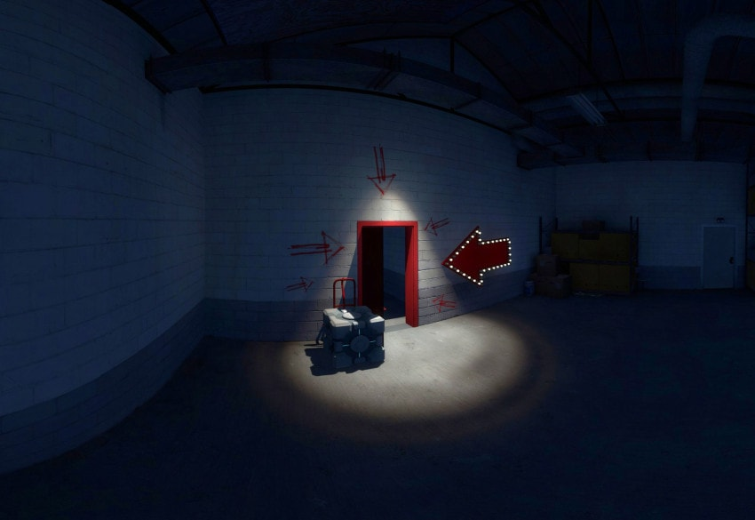 Screenshot from The Stanley Parable, a labyrinthine game that challenges what a story can be.