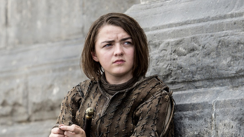 Arya Stark, daughter of Lady Catelyn and Lord Eddard Stark