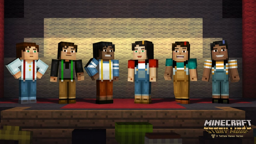The many versions of Minecraft: Story Mode character Jesse, who can either be male or female.