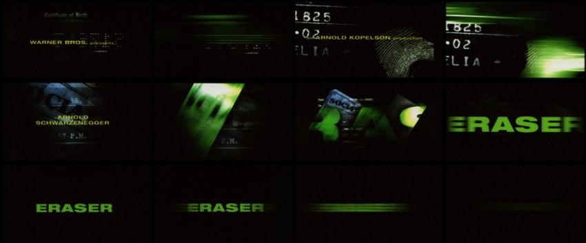 """Main title designer for """"Eraser"""" (1996)"""