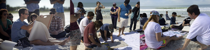 Annual drawing workshops on the beach