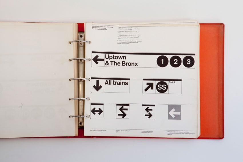 Page from New York City Transit Authority Graphics Standards Manual